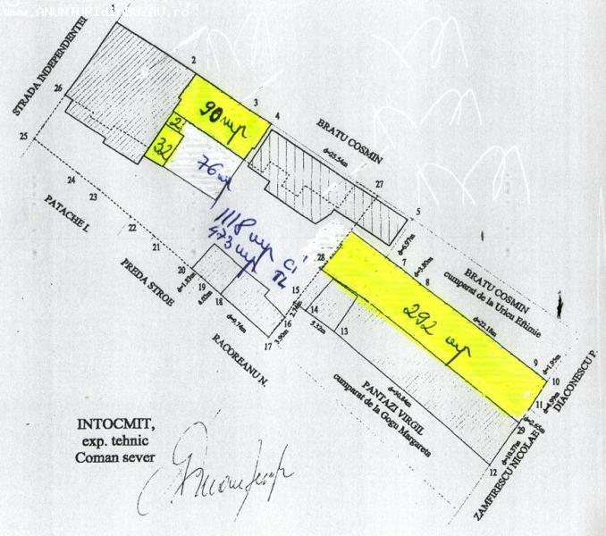 Vand casa demolabila si teren constructii Independentei