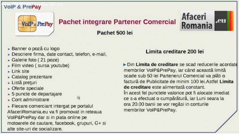 Lansare program parteneri comerciali in reteua Voip&Prepay
