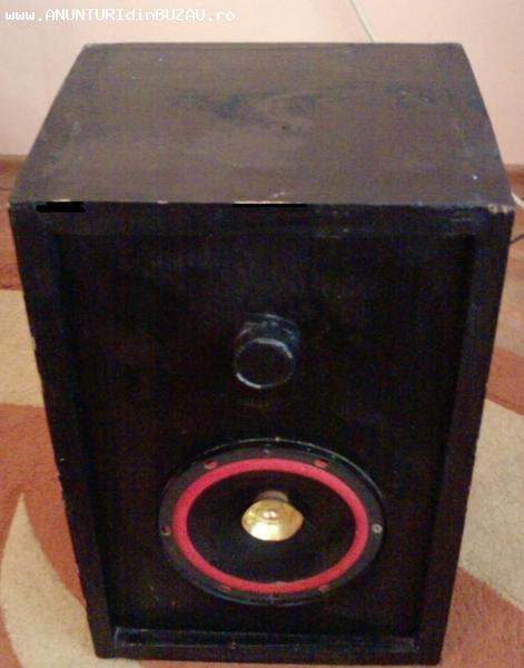 Boxe audio 35W cu 2 cai , carcasa din lemn