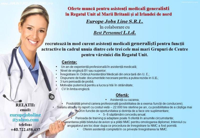 EUROPE JOBS LINE recruteaza asistenti medicali