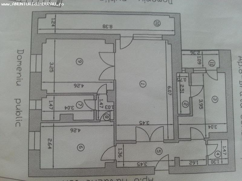 Apartament 3 camere, Centru, Buzau