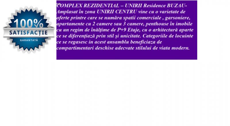 COMPLEX REZIDENTIAL - GARSONIERE , constructie 2016,