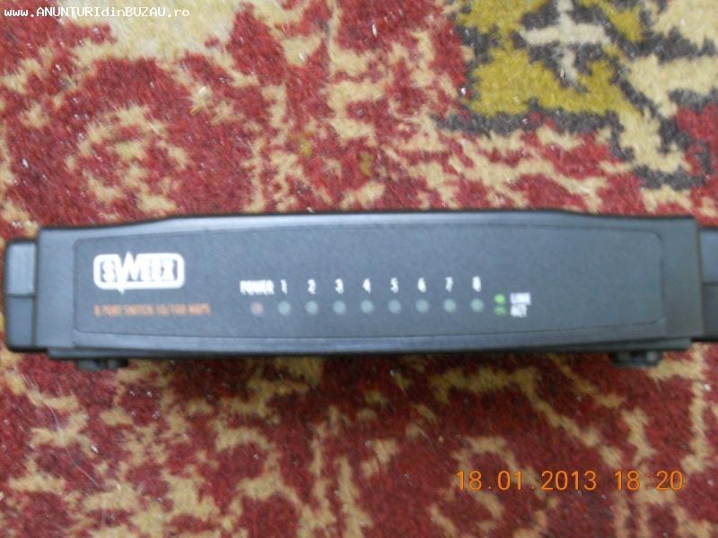 Ieftin switch Sweex Sw008 - 8 porturi - 10/100 mbps in stare