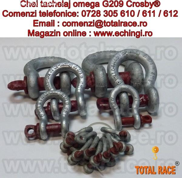 Gambeti / shackles omega cu bolt filetat G209 Crosby