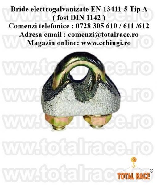 Bride fixare cablu EN 13411-5 Tip A ( fost DIN 1142 )
