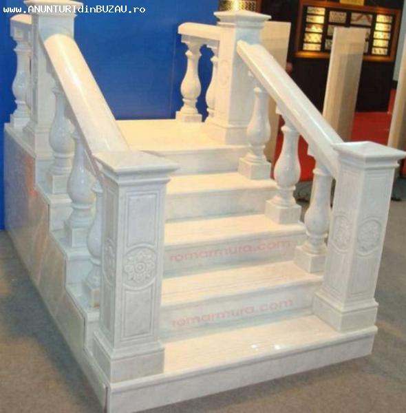 Stalpisori, balustrii din marmura pentru balcoane si scari marmura