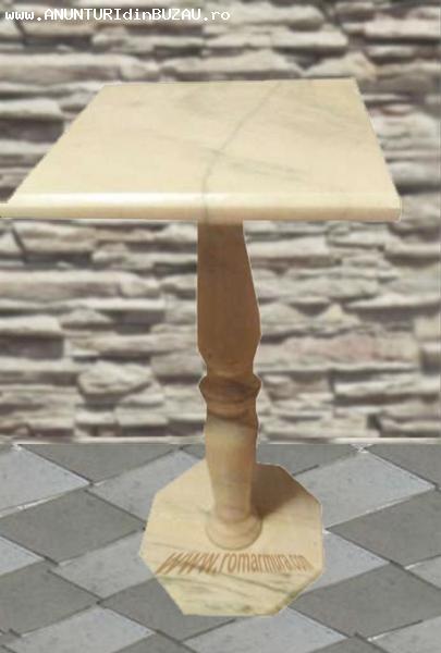 Masuta din marmura calitate cu picior din balustru