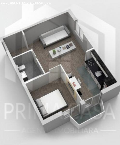 Apartament cu 2 camere in bloc nou Suprafata: 53 mp
