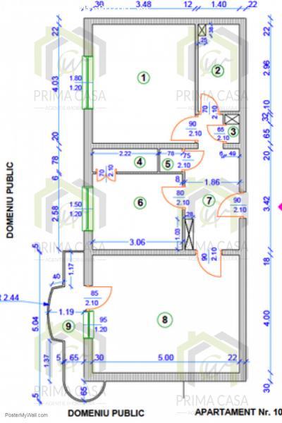 Apartament cu 2 camere; zona Clubul Politistilor; etaj 2din8