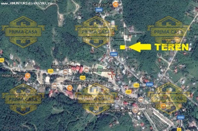 Teren (loc de casa) in statiunea de tratament Sarata Monteor