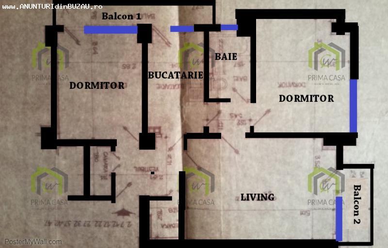 Apartament cu 3 camere pe Bd. N. Balcescu; etaj 3