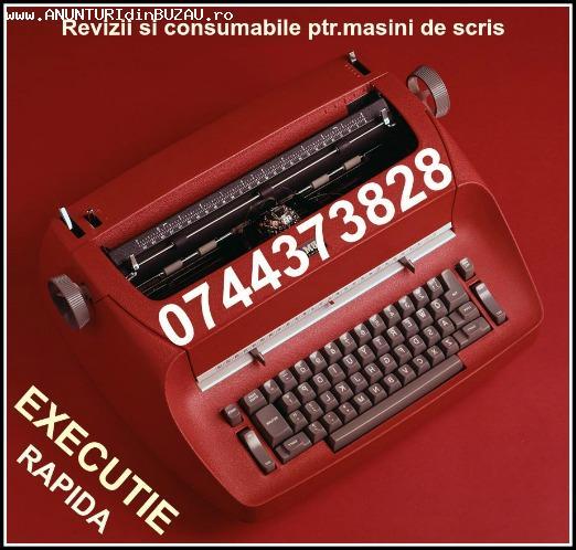 Reparatii&consumabile masini de scris mecanice si electrice.