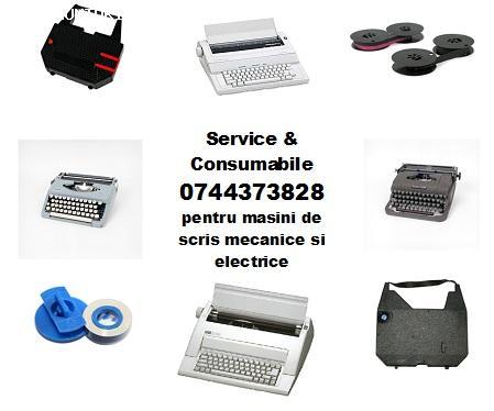 Service si consumabile masini de scris, cu executie rapida.