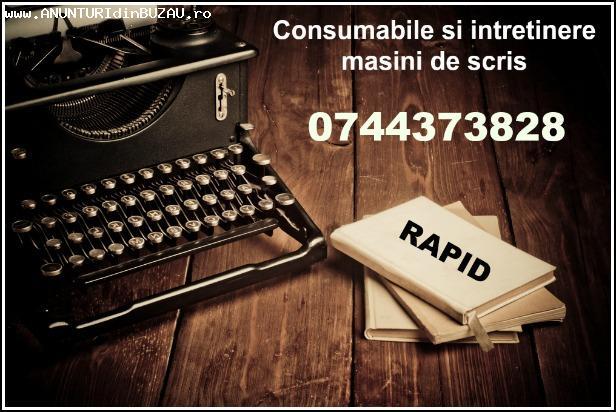 Consumabile si intretinere masini de scris, rapid