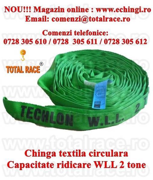 Chinga textila ridicare circulara 2 tone 3 metri
