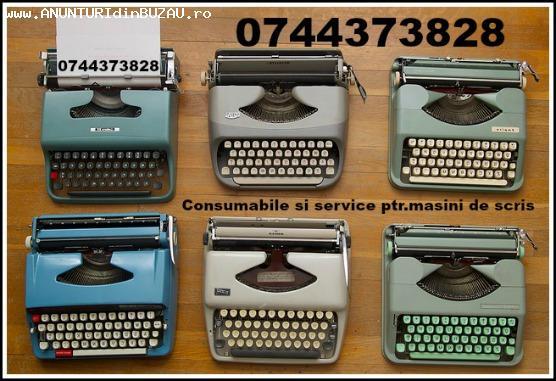Consumabile si reparatii masini de scris.