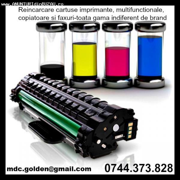 Toner incarcari cartuse imprimante copiatoare vanzare consum