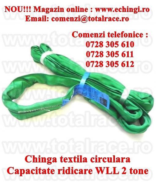 Chinga textila ridicare circulara 2 tone 4 metri