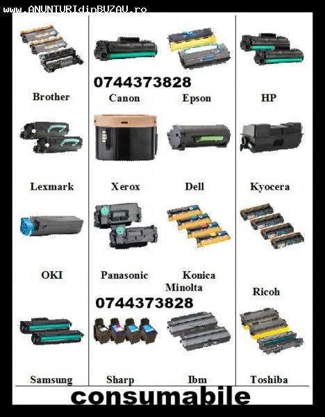 Cartuse pentru imprimante ink-jet si laser, copiatoare si fa