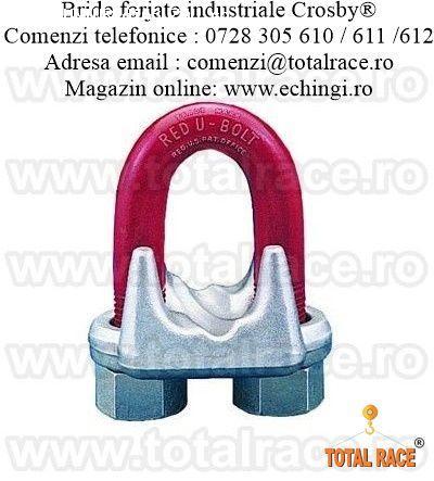 Brida forjata pentru cabluri cu diametru de la 3 mm la 90mm