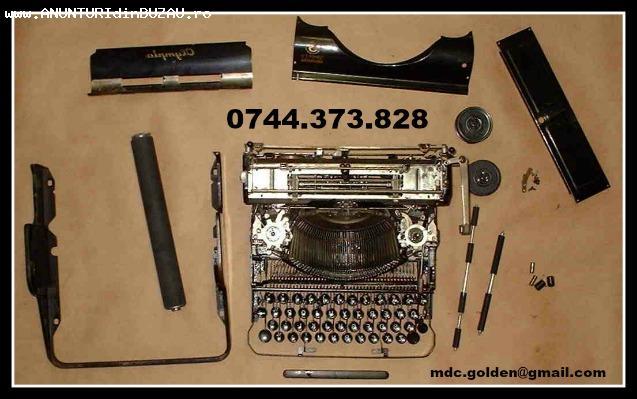 Reparatii si consumabile pentru masini de scris.