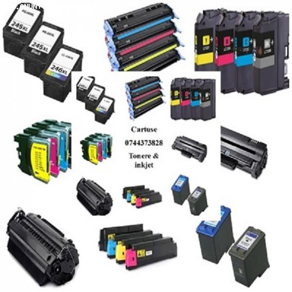 Cartuse de cerneala si toner pentru imprimante, compatibile