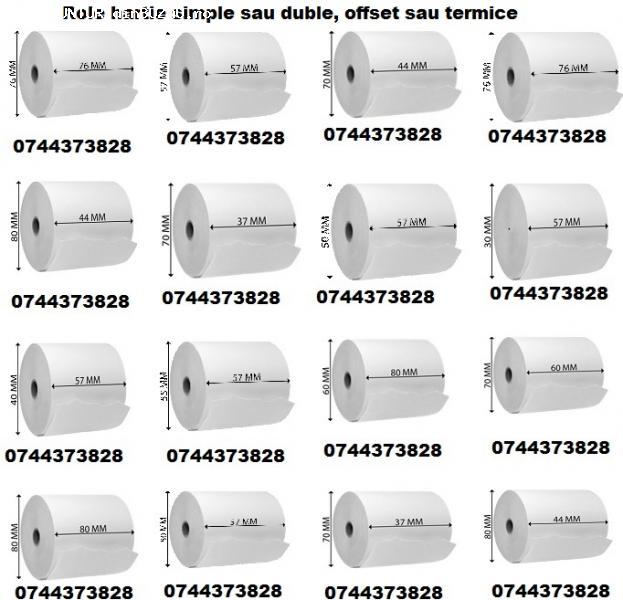 Role hartie termica / Role hartie offset 0744373828 cu livra