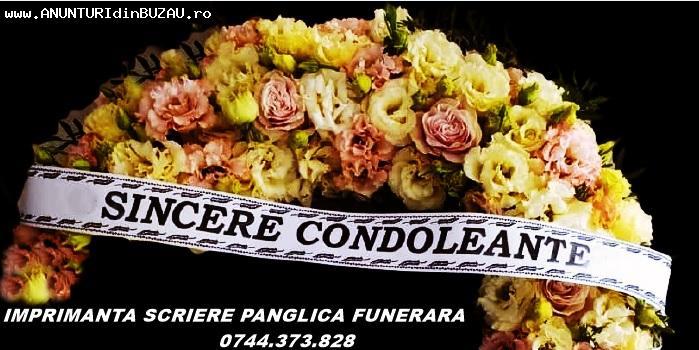 Imprimanta mesaj banda funerara