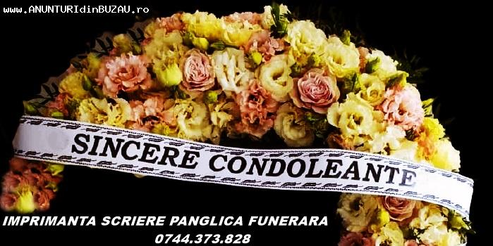 Sistem scriere panglica florala si funerara.