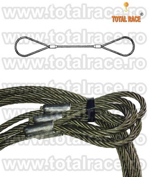 Cabluri de legare cu capete mansonate, cu inima metalica