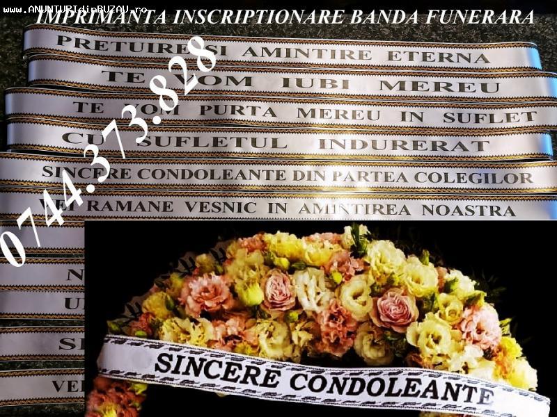 Imprimanta scriere panglici funerare florale 0744373828!.