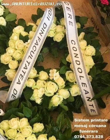 Imprimanta scriere panglici funerare si florale 0744373828.